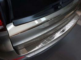 Накладка на задний бампер BMW X5 F15 (13-18) - стальная