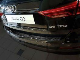 Накладка на задний бампер AUDI Q3 II (18-) - Avisa (карбон)