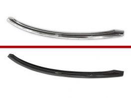 Накладка на бампер TESLA Model S (12-/17-) - чёрный карбон
