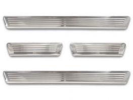 Накладки на пороги SKODA Octavia A8 (20-) Combi - Avisa (стальные)