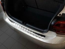 Накладка на задний бампер VW Polo VI (17-) HB - стальная