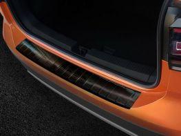 Накладка на бампер VW T-Cross (19-) - Avisa (чёрная)