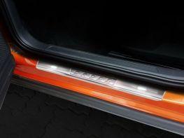 Накладки на пороги VW T-Cross (19-) - Avisa (стальные)