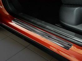 Накладки на пороги VW T-Roc (17-) - Avisa (чёрные)