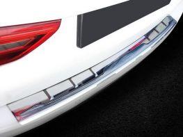 Накладка на бампер BMW 5 G31 (17-) - карбон + сталь белая