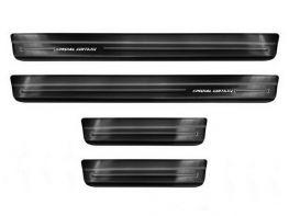 Накладки на пороги Nissan Juke II (F16; 19-) - Avisa (чёрные)
