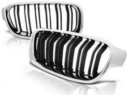 Решётка (ноздри) BMW 3 F30/F31 (12-18) - M3 стиль хром рамка