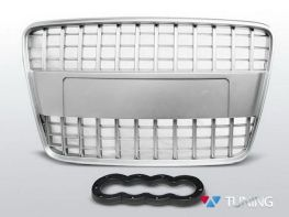 Решётка радиатора серебряная AUDI Q7 (05-09) - S-Line
