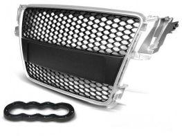 Решётка радиатора AUDI A5 (07-11) - серебряная RS стиль