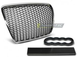 Решётка радиатора AUDI A6 C6 (2009-2011) RS хром