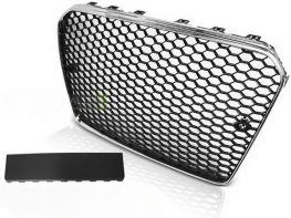Решётка радиатора AUDI A5 (11-16) - RS5 стиль хром чёрная