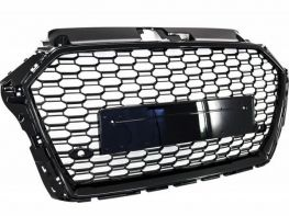 Решётка AUDI A3 8V (17-) - RS стиль (чёрная)