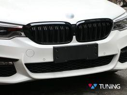 Решётка радиатора BMW 5 G30/G31 (2017-) - M5 чёрная