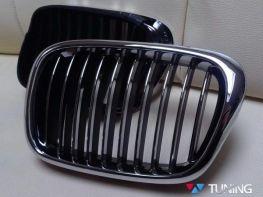 Решётка - ноздри BMW E39 (1995-2004) хром