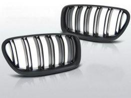 Решётка радиатора BMW 5 F10/F11 (10-16) - M5 стиль чёрная матовая