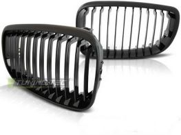 Ноздри BMW 1 E87 / E81 (07-11) LCI - чёрные глянцевые
