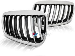 Решётка радиатора BMW X5 E53 (04-06) рестайлинг хром