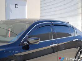 Ветровики HONDA Accord 9 (13-17) Sedan - HIC (с хром молдингом)