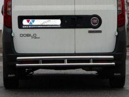 Защита задняя FIAT Doblo II (2010-) труба двойная