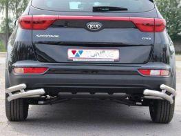 Защита задняя KIA Sportage IV (2016-) трубки двойные на углы