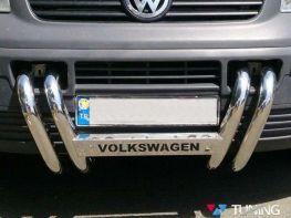Ноздри - кенгурятник VW T5 Transporter (2003-2010)