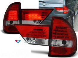 Фонари задние BMW X3 E83 (03-06) - красно-белые LED
