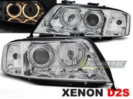 Фары AUDI A6 C5 (97-99) ANGEL EYES CHROME XENON