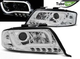 Фары передние AUDI A6 C5 (97-01) LED TUBE LIGHTS CHROME