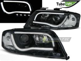 Фары передние AUDI A6 C5 (97-01) LED TUBE LIGHTS BLACK