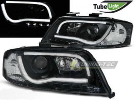 Фары AUDI A6 C5 (01-04) рестайл LED TUBE LIGHTS BLACK