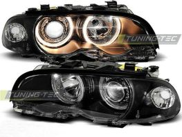 Фары передние BMW E46 (99-01) C/C ANGEL EYES BLACK