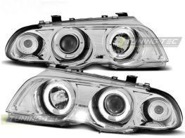 Фары передние BMW E46 (98-01) S/T ANGEL EYES CHROME
