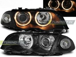 Фары передние H7 BMW E46 (98-01) S/T ANGEL EYES BLACK