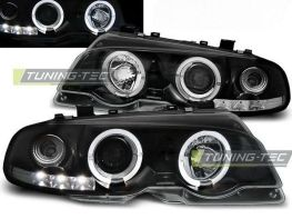 Фары передние BMW E46 (99-03) Coupe ANGEL EYES BLACK