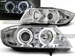 Фары BMW E90 / E91 (05-08) ANGEL EYES CHROME CCFL