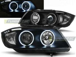 Фары BMW E90 / E91 (05-08) ANGEL EYES BLACK CCFL