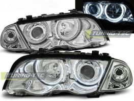 Фары передние CCFL BMW E46 (98-01) S/T ANGEL EYES CHROME