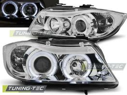 Фары BMW E90 / E91 (05-08) ANGEL EYES CHROME