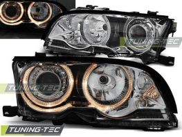 Фары передние BMW E46 (01-03) C/C ANGEL EYES CHROME