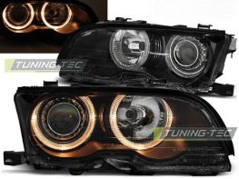 Фары передние BMW E46 (01-03) C/C ANGEL EYES BLACK