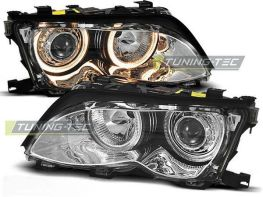Фары передние H7 BMW E46 (01-05) S/T ANGEL EYES CHROME