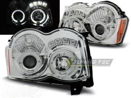 Фары JEEP Grand Cherokee WK (2008-2010) ANGEL EYES CHROME