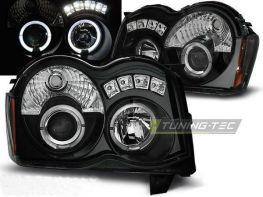 Фары JEEP Grand Cherokee WK (2008-2010) ANGEL EYES BLACK