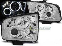 Фары FORD Mustang V (04-09) ANGEL EYES CHROME