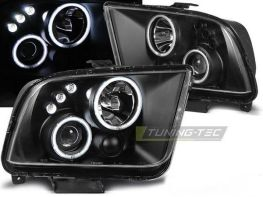 Фары FORD Mustang V (04-09) ANGEL EYES BLACK