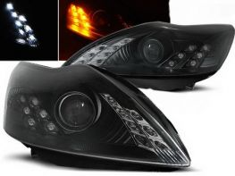 Фары FORD Focus II (08-10) DAYLIGHT BLACK LED