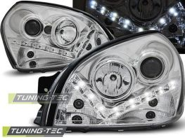 Фары HYUNDAI Tucson JM (04-10) DAYLIGHT CHROME