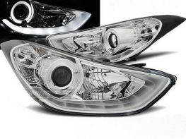 Фары передние HYUNDAI Elantra V (2011-) CHROME DAYLIGHT LED