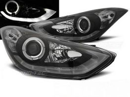 Фары передние HYUNDAI Elantra V (2011-) BLACK DAYLIGHT LED