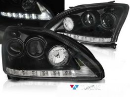 Фары LEXUS RX 330/350 (2003-2009) TUBE LIGHT BLACK